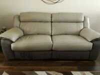 Manual Reclining Leather Sofas