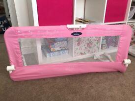 2 pink Babystart bed rails