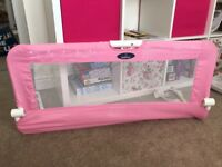 2 pink Babystart bed rails