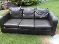 3 seater ikea leather sofa