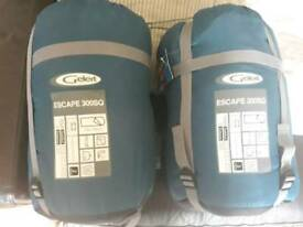 2x Gelert 300sq sleeping bags