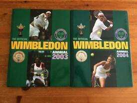 2003, 2004 Wimbledon hard back books