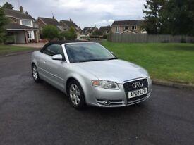 07 Audi a4 convertible silver 1.8t 12 months mot service history good runer £2995