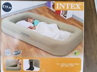 Children's air bed and pump - brand new in box