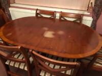 Solid yew dining table
