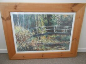 Pine framed pictures by Monet