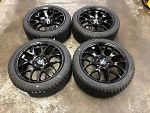 17 VMR Matt Black Wheels 5x120 and WINTER Tires 225/45R17 (BMW 3 Series) Calgary Alberta Preview