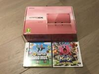 Nintendo 3DS Pink + 2 Games