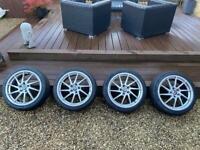 """VW Audi 18"""" 5/112 set of 4 Cades Kratos Alloy Wheels & Tyres"""