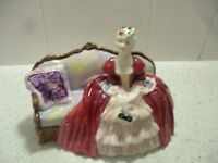royal doulton red lady figurine hn 1997 belle o the ball old figure vintage