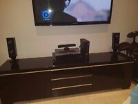 Black High Gloss TV Unit from Ikea