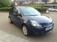 FORD FIESTA 1.2 3 DOOR 2008 BLUE COLOUR 68000 MILES 1 YEAR MOT