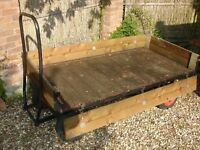 Solid and well-built drop-side GARDEN TROLLEY