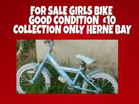 Girls bike good condition collection only herne bay £10