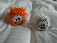 Club Penguin Orange & White Puffle Soft Toy.