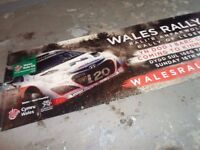 wales rally GB large banner kinmel park