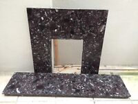 marble fire insert black and white