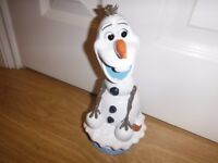 "Disney Frozen Olaf Garden Gnome/House Ornament 12"" Height Never Used Outside New Condition"