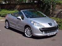 EXCELLENT CONVERTIBLE!!! 2009 PEUGEOT 207 CC 1.6 16v GT 2dr, LONG MOT, FSH, AA WARRANTY AVAILABLE
