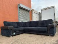 Beautiful Black DFS Corner sofa delivery 🚚 sofa suite couch furniture