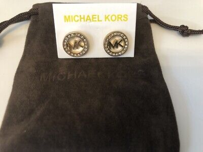 Michael Kors Earrings Golden  stud With a Pouch