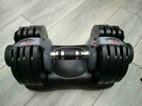 Bodymax Selectabell dumbells 5-32.5kg and Bodymax weight bench