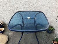 Garden Table with Glass Top - FREE TO A GOOD HOME