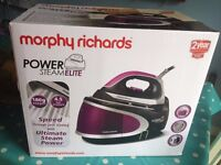 BRAND NEW BOXED Morphy Richards Power Steam Elite pressurised iron/steamer
