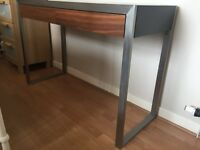 Console Table in chrome and wood