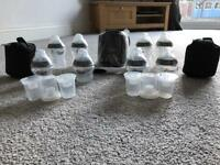 Brand New Tommee Tippee bottle warmer and 8 bottles
