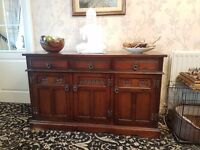 Lancaster brown tudor sideboard good condition collection only