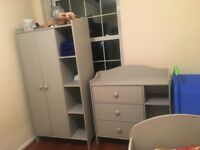Kids wardrobe and chest of drawers