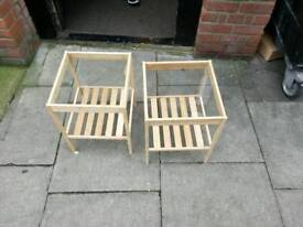 2 Ikea wooden tables