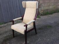 Armchair wingback chair retro