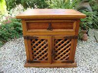 Solid Antique Pine Rustic Cabinet.