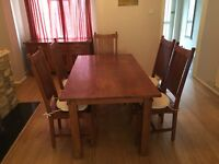 Stunning Solid Wood Dining Table and 5 Chairs