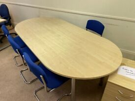 Poplar wood boardroom/conference/meeting/office table