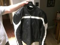 Black motor bike jacket