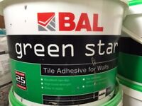 4 x BAL Green Star - Tile adhesive for walls