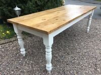 7ft 8-10 seater Farmhouse Dining Table Kitchen Reclaimed Annie Sloan Original