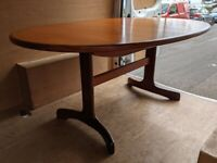G Plan Fresco oval dining table (desk?!) - B & H delivery or 15 miles Danish teak era gplanera