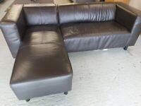 Le Chaise Right Hand Leather sofa