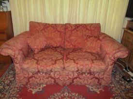 John Lewis VERY comfy generous 2 seater sofa deep red