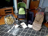 Bugaboo cameleon 2 pram/pushcair bundle with limited edition colours