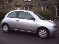 NISSAN MICRA , FOR SALE OR SWAP for JEEP or AUTOMATIC CAR