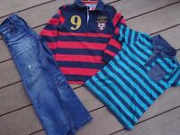 Boys items x 3, Jeans, long sleeved top and t shirt age 5-6yrs.