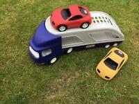 Boy's Transporter Truck & 2 cars