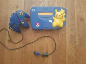 Pikachu edition N64 and games