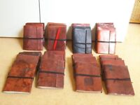 JOB LOT of 2nd. Quality Leather Notebooks/Journals/Diaries