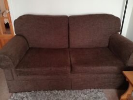 FOR SALE Chocolate Brown fabric sofa